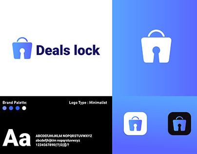 Deals lock Logo Design