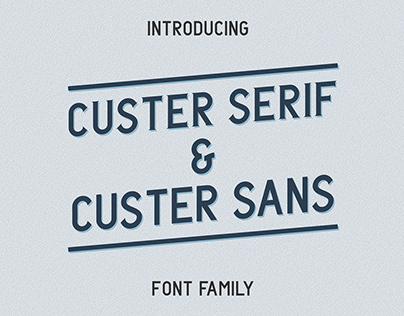 Custer Font Family