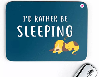 I'd Rather Be Sleeping Mousepads