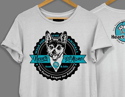Walk for Animals Potter League Shirt Design