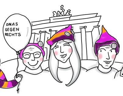 Omas gegen Rechts (grannies against right)