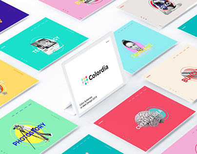 Colordia : Color Schemes in Web Design 2019