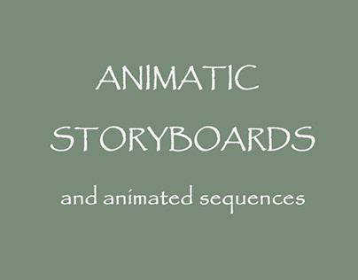Animatic storyboards