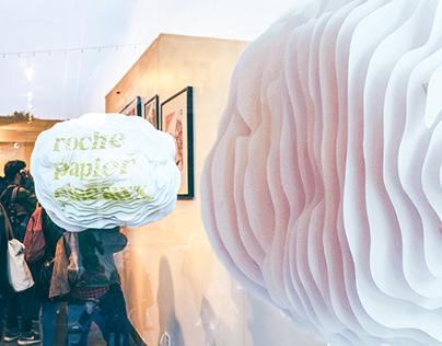 Strates vitrine/ Expo -Roche, Papier, Ciseaux - 16/17
