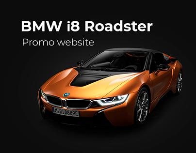 BMW I8 Roadster Promo website