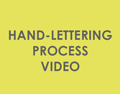 Hand Lettering Process