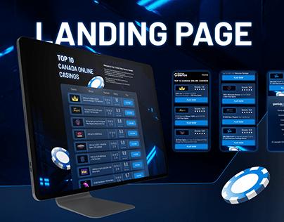 Landing page Online Casino