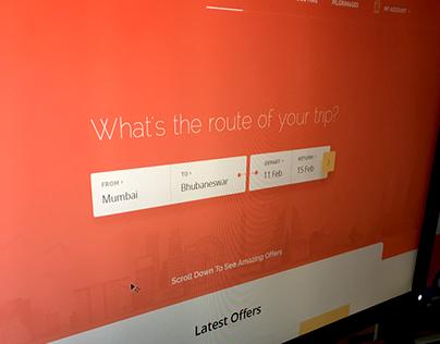 UI Design Concept for a Travel Brand