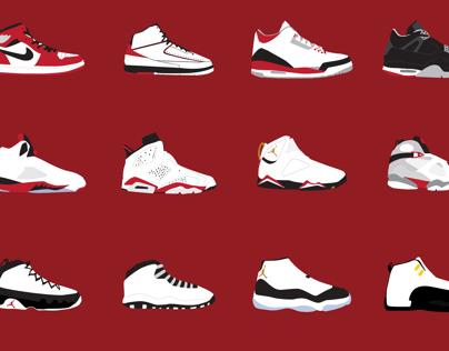 Air Jordan Timeline and Posters