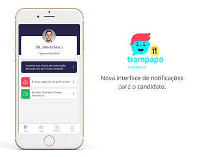 Trampapo | New notifications for the candidate