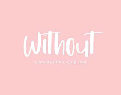 Without | Handwritten Font