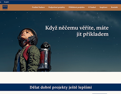 nadaceppf.cz - webdesign and administration
