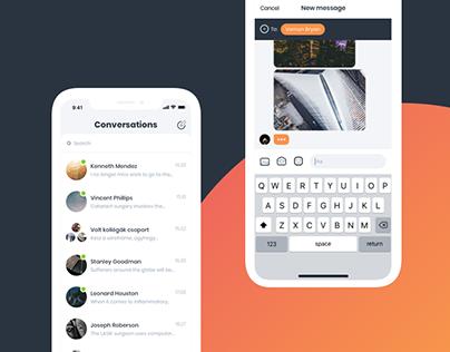 Messengly - App design