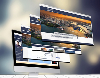 Corporate Design: Website TravelMates
