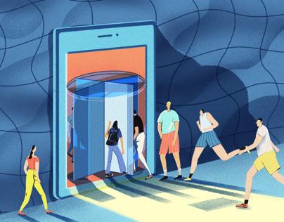 Mobile phone door