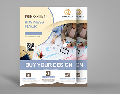 business flyer design in Photoshop