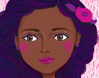 pretty purple hair girl