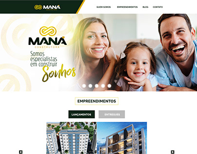 Maná Construtora - Website