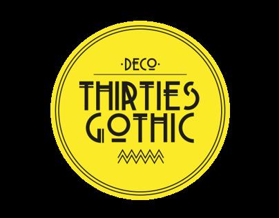 Thirties Gothic Modular Typeface