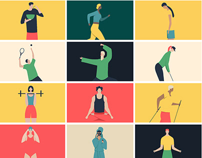 Healthy lifestyle Illustrations