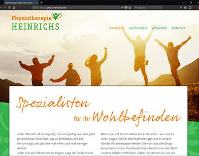 Webseite für physio-heinrichs.net
