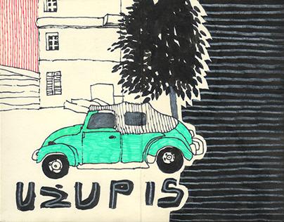 """Pocket sketchbook """"Uzupis"""" N3, 2018"""