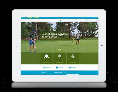 Yyteri Golf | Web design