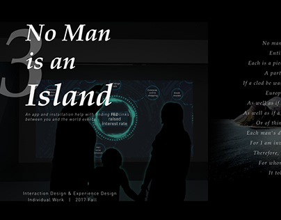 No man is an island - an app and installation