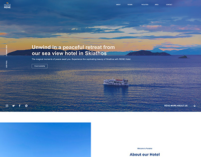 WEB DESIGN FOR HOTEL IN GREECE