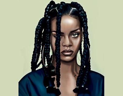 Rihanna 90s illustration
