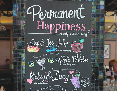 Chalkboard Illustrations for Bar Louie