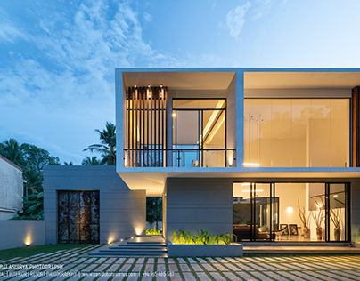 A Completed modern house