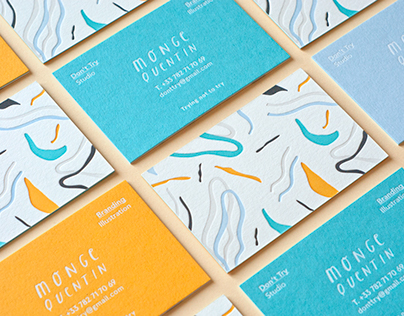 Colorful Letterpress Business Cards