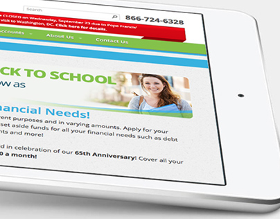 Responsive Federal Credit Union Website