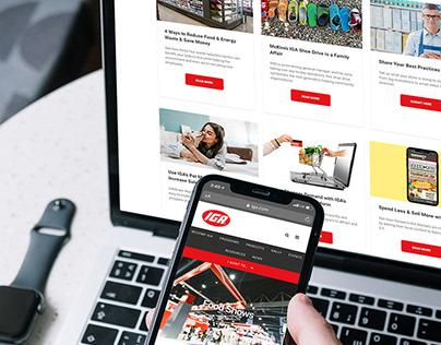IGA website content management with HubSpot platform