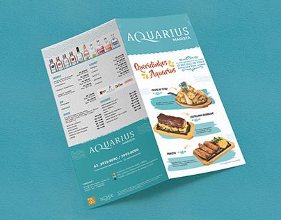 Aquarius - Cardápio