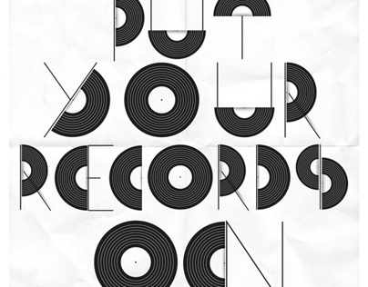 """Records On"" Free Vector Font"