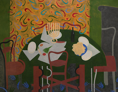 """Jewish holidays""; oil on canvas"