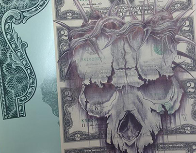 Root of All Evil Currency Art by Gary Rudisill