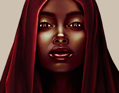mystical lady in the hood