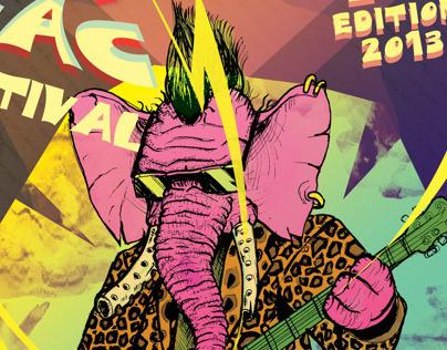 ZIKZAC Rock Festival poster