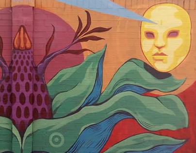 Mural para Atrapasueños, Suba, Bogotá.