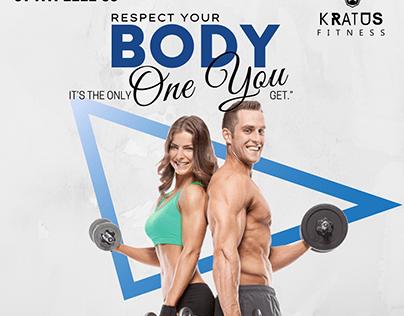 Gym/Fitness Social Media Post Design