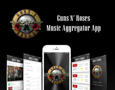 Music Aggregator App - Guns N' Roses