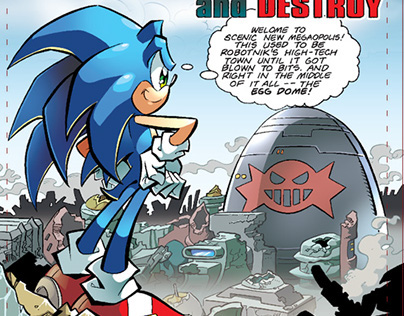 Sonic the Hedgehog - Archie Comics- Character Design