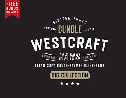 Vintage octagonal typeface Westcraft Sans