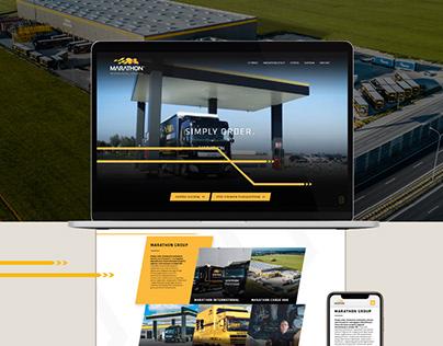 Web design and photo session webpage for Marathon