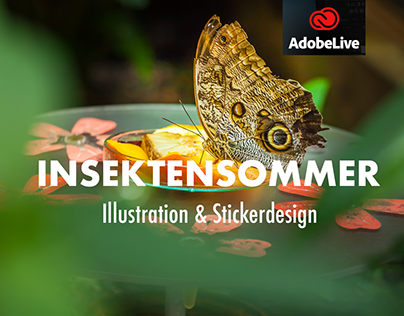 Insektensommer – Illustration & Stickerdesign