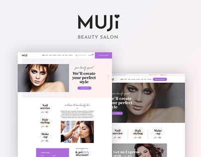 Muji   Beauty Shop & Spa Salon WordPress Theme