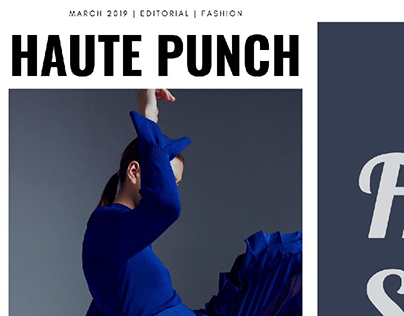 Frills Story editorial for HAUTE PUNCH